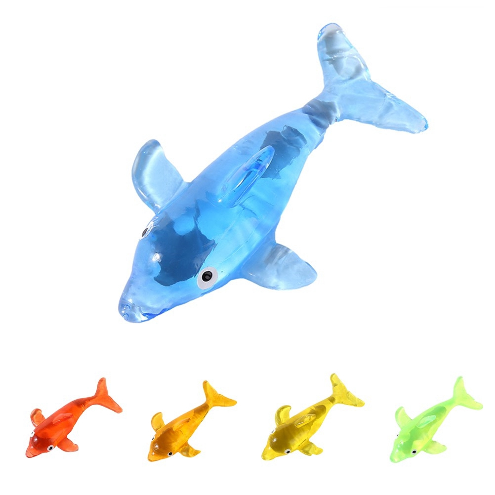 Stress Venting Elastic Animal Dolphin Prank Squeezable Toy