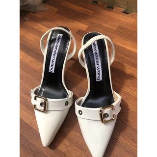 Giày sandal cao gót nữ bít mũi khóa da lỳ cao cấp gót cao 5p sang chảnh ms Q134 thumbnail