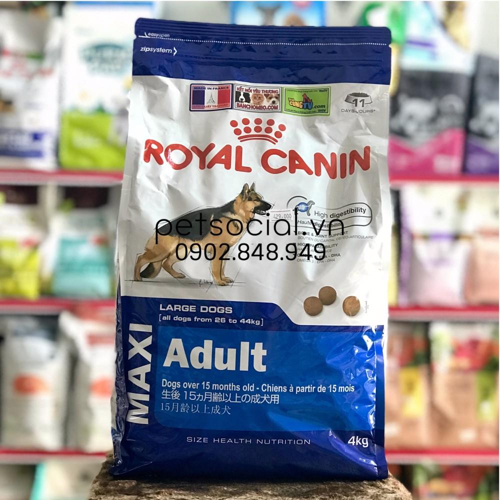 Thức ăn hạt Royal Canin Maxi Adult 4kg - 2848626 , 744625638 , 322_744625638 , 471000 , Thuc-an-hat-Royal-Canin-Maxi-Adult-4kg-322_744625638 , shopee.vn , Thức ăn hạt Royal Canin Maxi Adult 4kg