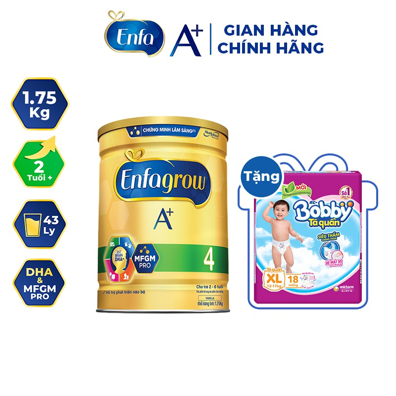 Sữa bột Enfagrow A + 4 1750g