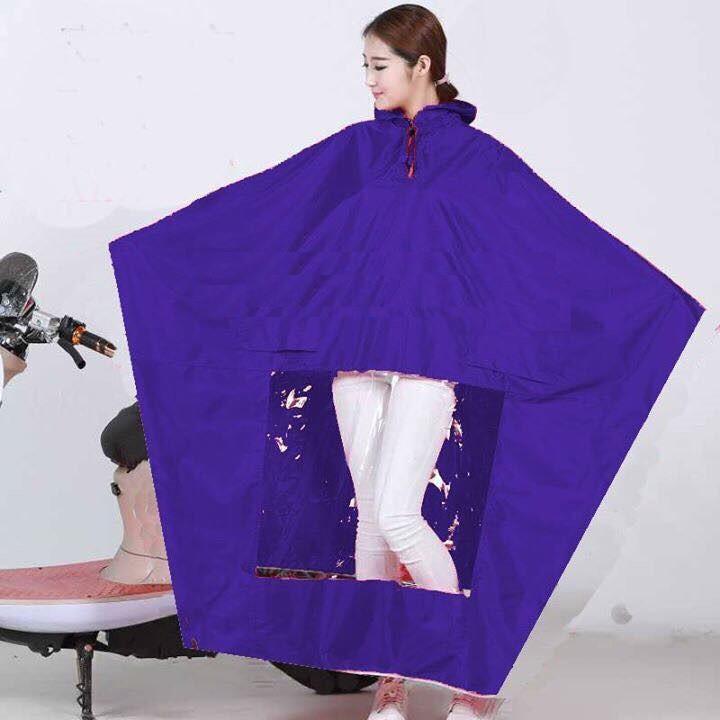 Áo mưa cánh dơi trơn vải dù kèm túi đựng