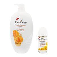 Combo sữa tắm Enchanteur hương nước hoa 650 g + lăn khử mùi Enchanteur 50 ml