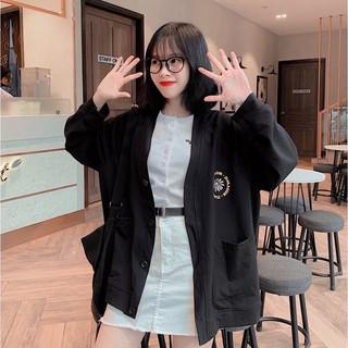 Áo khoác cardigan nữ form rộng floral fun 4young mall thumbnail