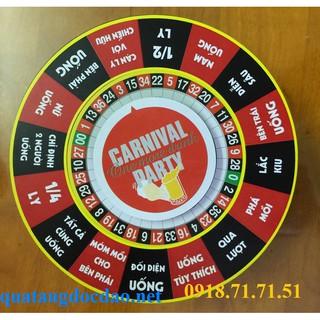 Vòng xoay uống bia, rượu tiếng Việt V3 (cỡ đại 14cm) 16 câu, 4 nút bấm dùng pin – trò chơi quán bar độc đáo