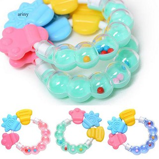 ♞1Pc Lovely Baby Circle Balls Teether Rattles Pacifier Bell Molar Toy Tooth Care