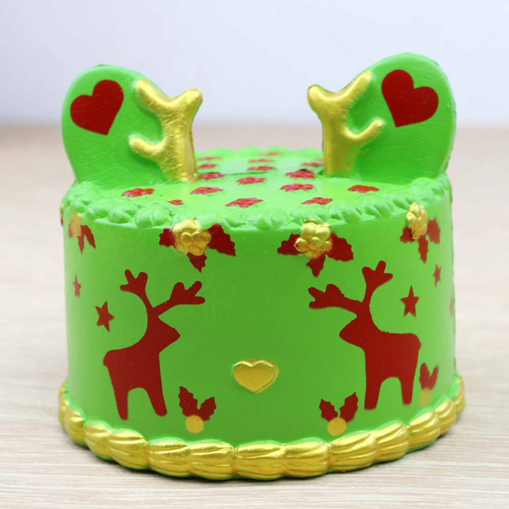 Squishy Green Elk Cake Toy