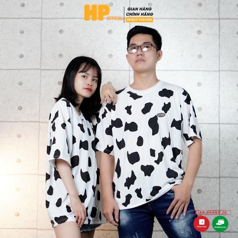 [Mã FASHIONT4MA giảm 10K đơn 50K] Áo Thun Bò Sữa Tay Lỡ dáng rộng Unisex nam nữ phong cách Ulzzang hottrend