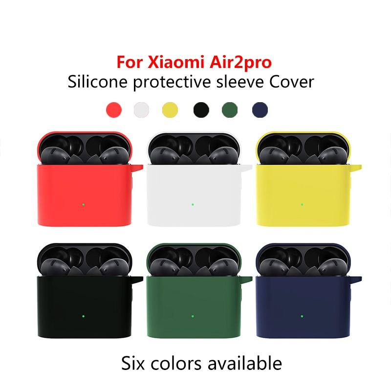Vỏ Bảo Vệ Hộp Đựng Tai Nghe Xiaomi Air 2 Bằng Silicone Mềm Màu Trơn