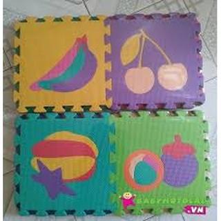 [SIÊU RẺ] Bộ 10 tấm thảm xốp lót sàn cho bé yêu hình trái cây kích thước 30x30x1cm