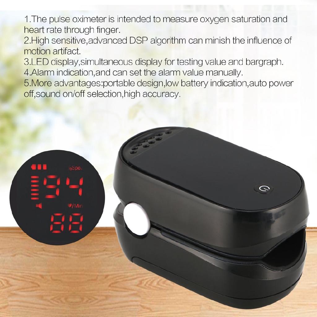 LED Fingertip Pulse Oximeter Blood Oxygen Saturation Monitor Finger SpO2