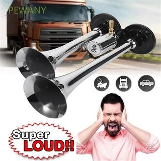 PEWANY 12V/24V Trumpet Boat Loudspeaker Dual Trumpets RV Super Loud Durable 115db Truck Train Air Horn/Multicolor