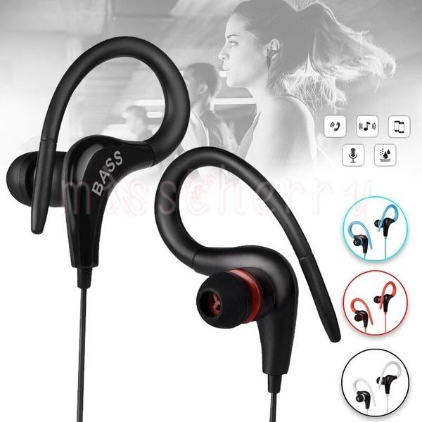 Tai nghe nhét tai có móc kẹp vành tai giắc 3.5mm kèm mic kiểu dáng thời trang