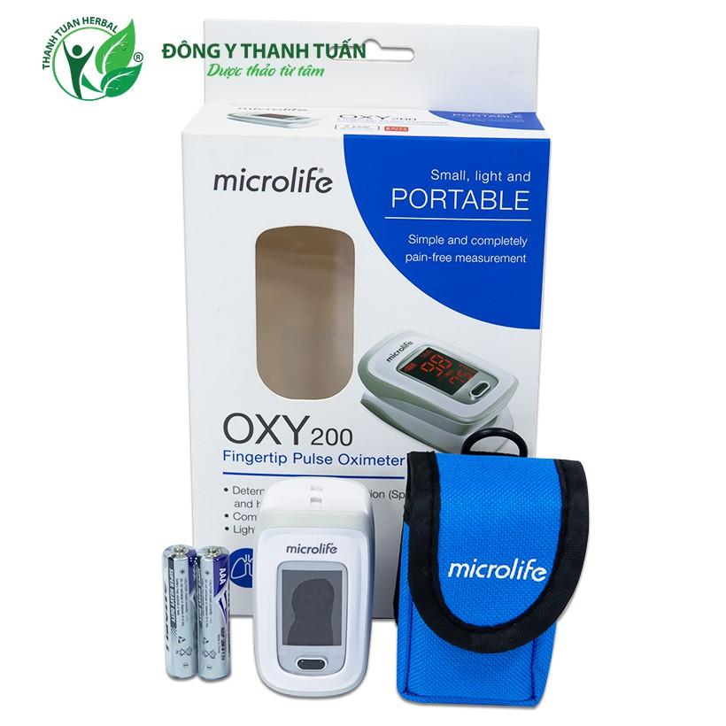 Máy Đo Nồng Độ Oxy Trong Máu SpO2 Và Nhịp Tim Microlife OXY200
