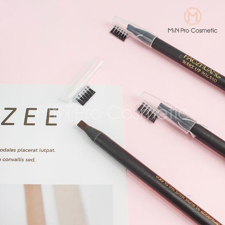 [Mã COSUP7 giảm 10% đơn 250K] Chì kẻ mày cứng phẩy sợi Haozhuang Eyebrow Pencil Precicion