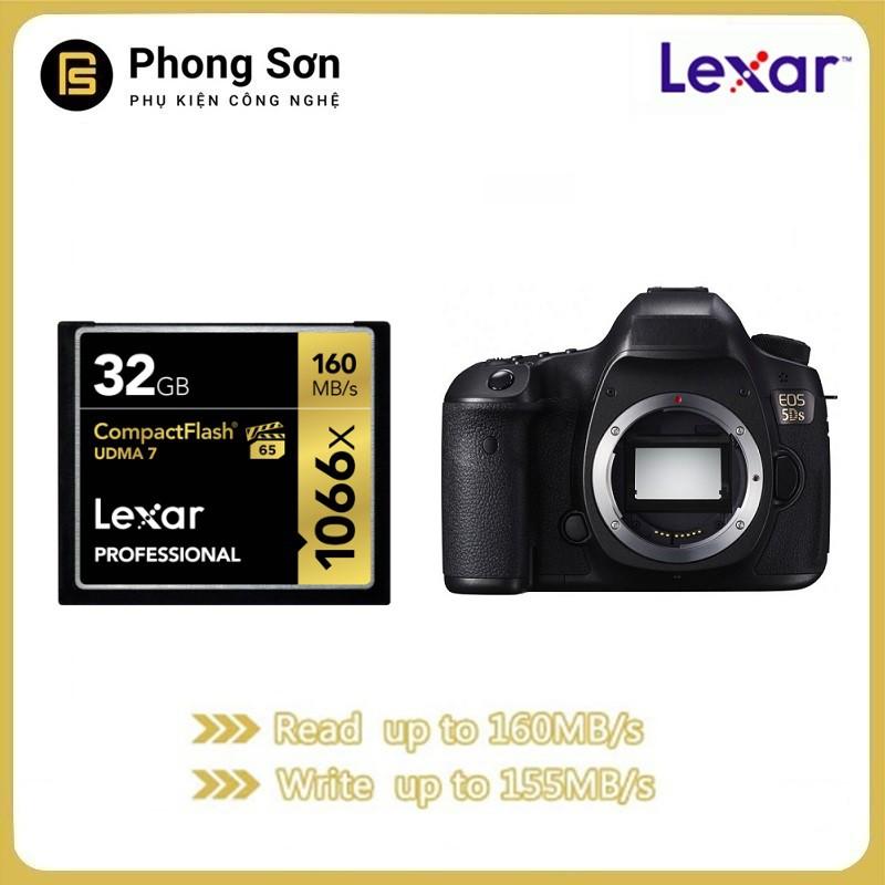 Thẻ nhớ CF Lexar 32GB Pro 1066X 160MB/s - Cho máy ảnh chuyên nghiệp, tốc độ cao (Đen, Vàng)