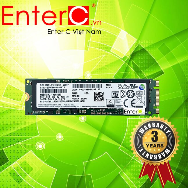 Ổ cứng SSD Samsung M2 SATA 2280 (bản 850EVO OEM) PM871 - 128GB/256GB