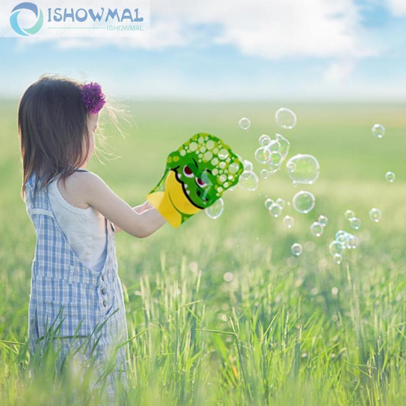 Cartoon Pattern Palm Bubble Toy Colorful Bubble Blowing Glove For Kid Gift