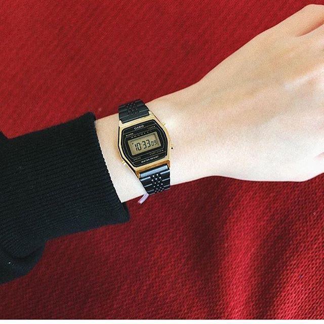 Đồng hồ nữ dây kim loại Casio Standard chính hãng Anh Khuê LA690WGB-1DF