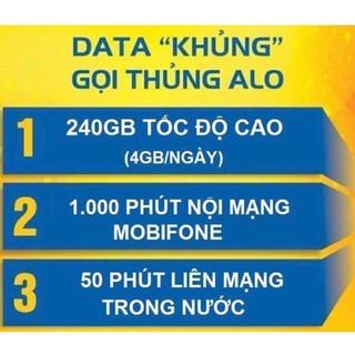 (Miễn phí 2 tháng đầu) Sim 4G Mobifone nghe gọi miễn phí