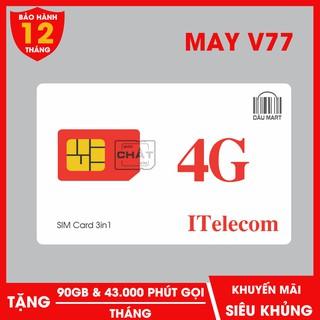 SIM 4G MAY V77 Tặng 90GB Tháng + 43.000 Phút Gọi Miễn Phí thumbnail