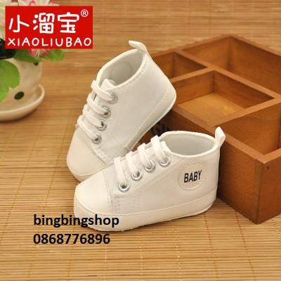 giày baby trắng