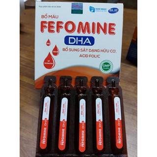Bổ máu FEFOMINE DHA – Bổ sung sắt dạng hữu cơ, acid folic cho phụ nữ có thai, hỗ trợ giảm thiếu máu do sắt
