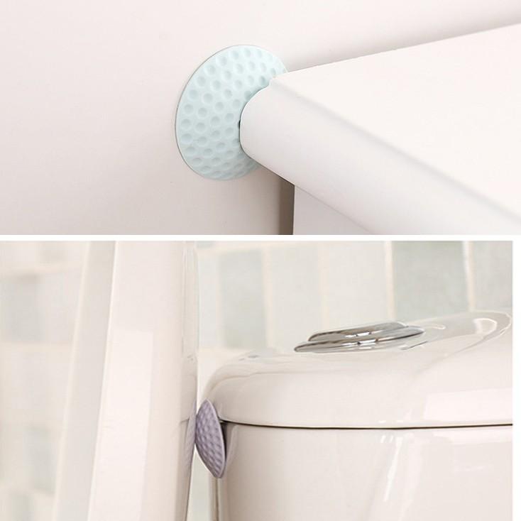 Miếng chặn cửa silicon dán tường, mút đệm lót chống va đập tay nắm tủ, bàn ghế, bằng cao su cách âm không ồn keo 3M