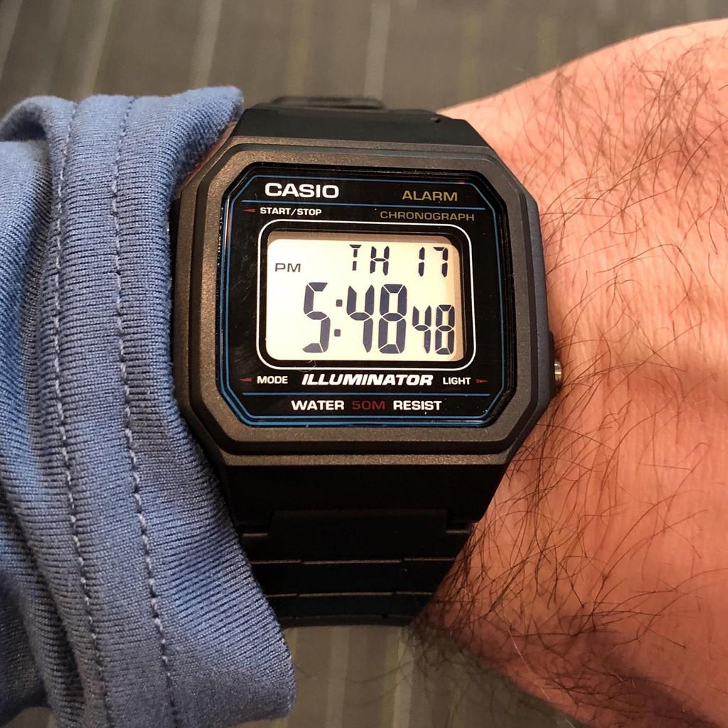 Đồng hồ nam dây nhựa Casio Standard chính hãng Anh Khuê W-217H-1AVDF