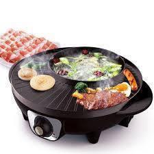 Bếp Lẩu Nướng tròn kiểu Hàn Quốc