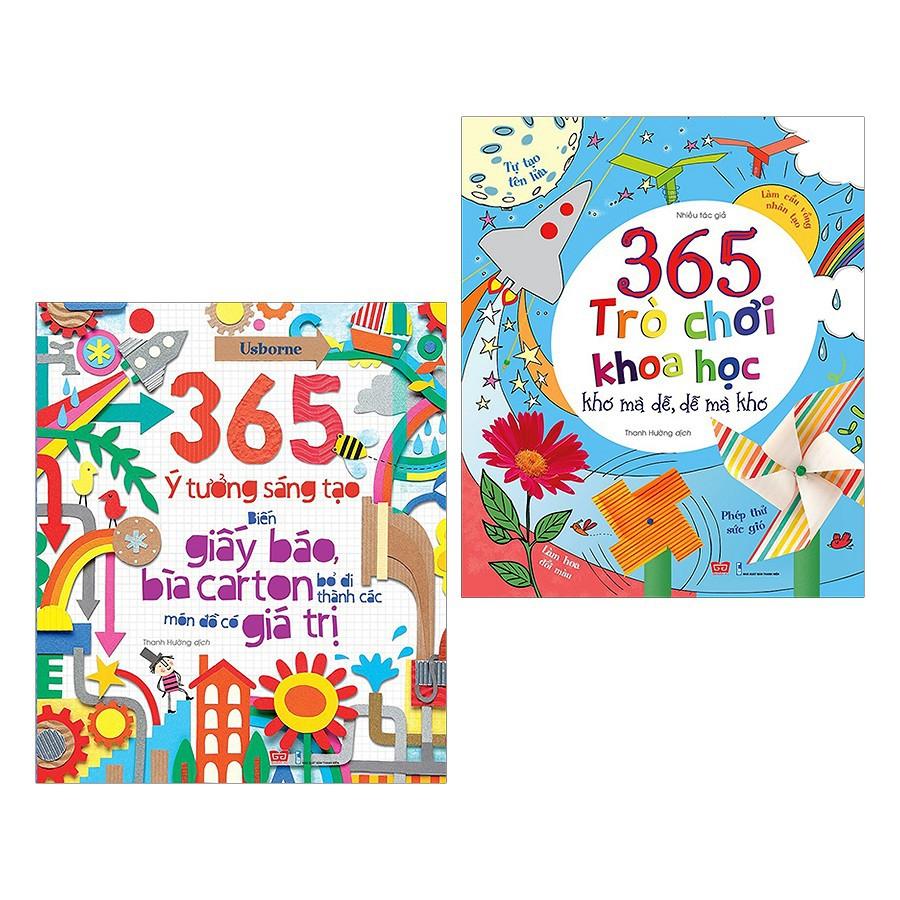 365 Trò Chơi Khoa Học + 365 Ý Tưởng Sáng Tạo: Biến Giấy Báo, Bìa Carton Bỏ Đi Thành Các Món Đồ Có Giá Trị