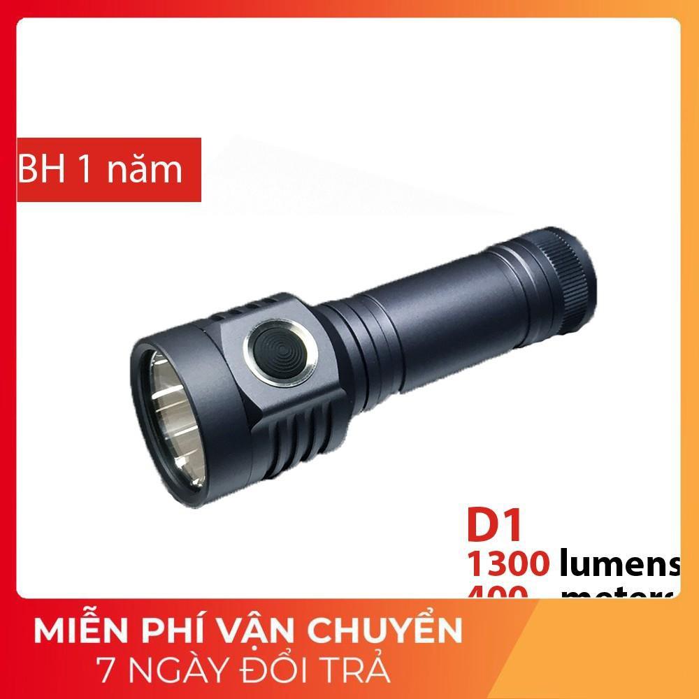 nhập DENPNEW giảm 20k] Đèn pin EMISAR D1 sử dụng LED XP-L HI độ sáng  1300lm, chiếu xa 400m giảm chỉ còn 800,000 đ