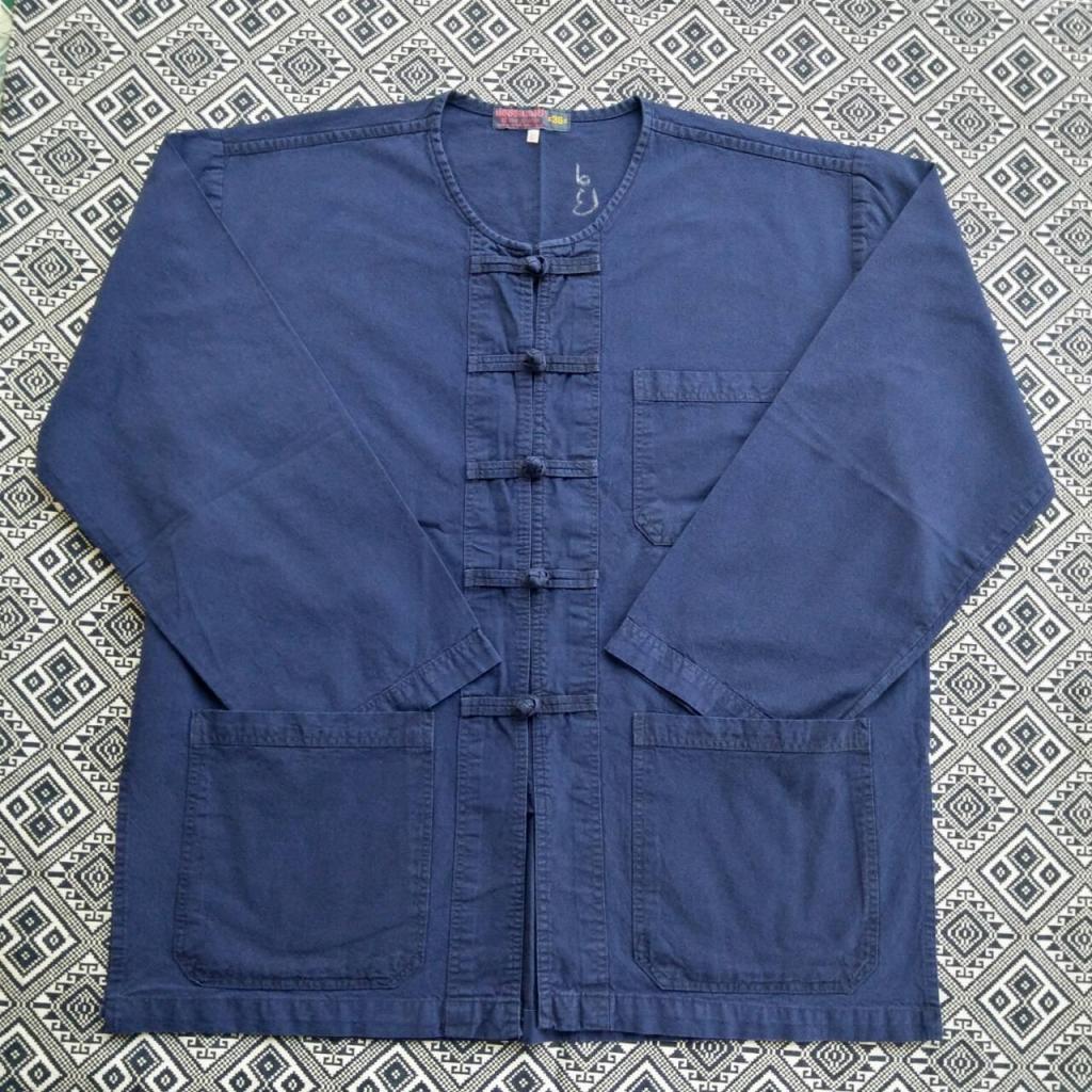 เสื้อหม้อฮ่อม กระดุมจีนแขนยาวสื้อหม้อฮ่อม กระดุมจีนแขนยาว