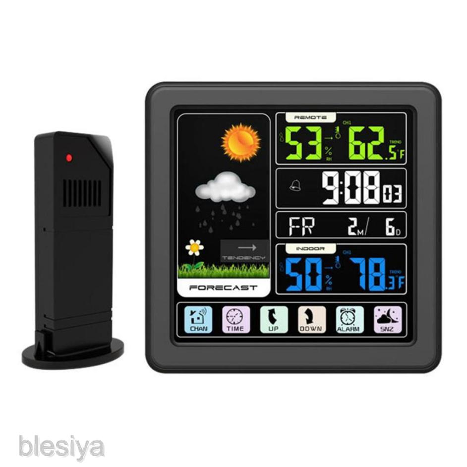 [BLESIYA] Weather Color Forecast Station with Home Alarm Clock Temperature Alerts