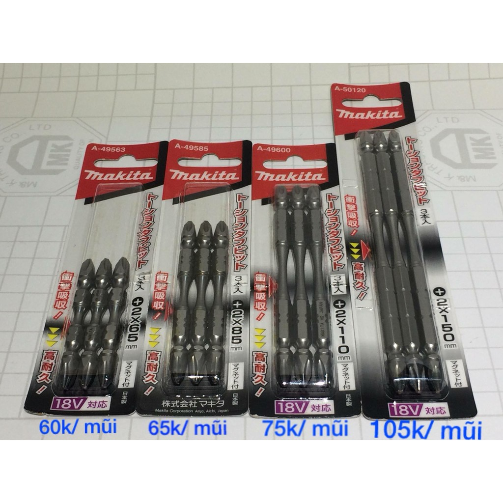 DCSG Mũi vít Nhật Makita Ph2 dài 65-85-110-150mm - 3468886 , 836863564 , 322_836863564 , 60000 , DCSG-Mui-vit-Nhat-Makita-Ph2-dai-65-85-110-150mm-322_836863564 , shopee.vn , DCSG Mũi vít Nhật Makita Ph2 dài 65-85-110-150mm