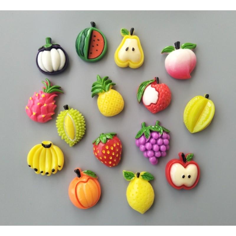 Nam châm trang trí tủ lạnh hình hoa quả kích thước 2.5cm đến 3cm