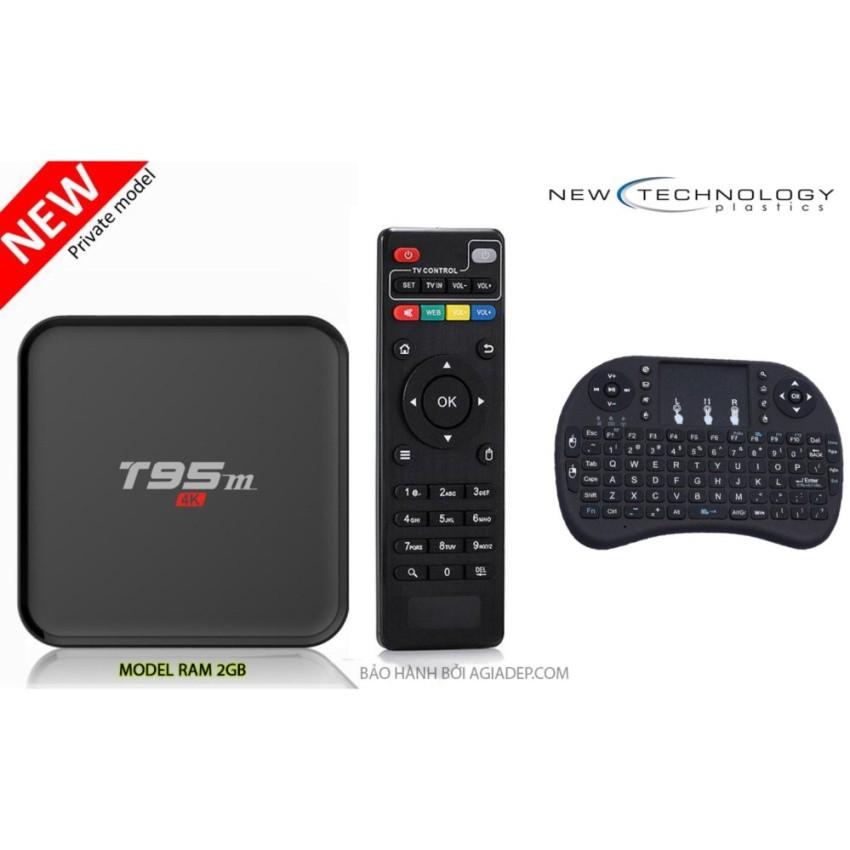 Tivi BOX thế hệ mới T95M (Ram 2G) và Bàn phím Mini kiêm chuột cảm ứng đa năng