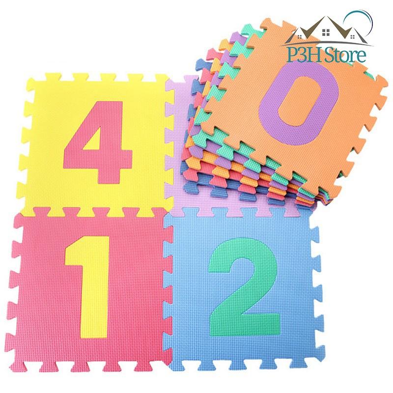 Lốc 10 tấm thảm Eva hình số Lock&Lock ETM287