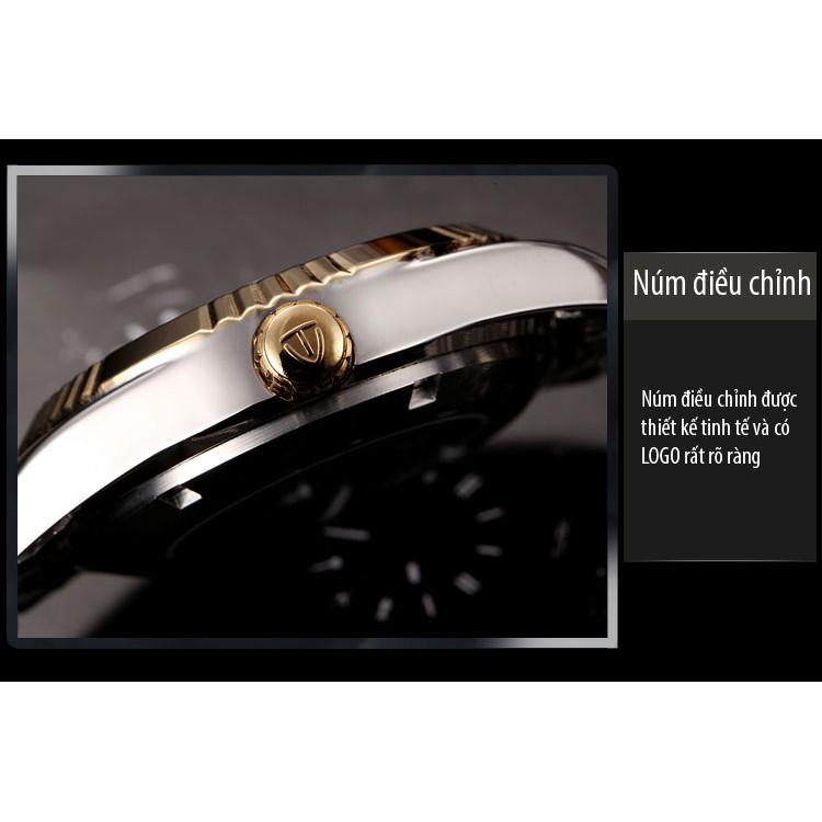 Đồng hồ cơ nam Tevise 629 automatic dây đúc đặc - Dây demi