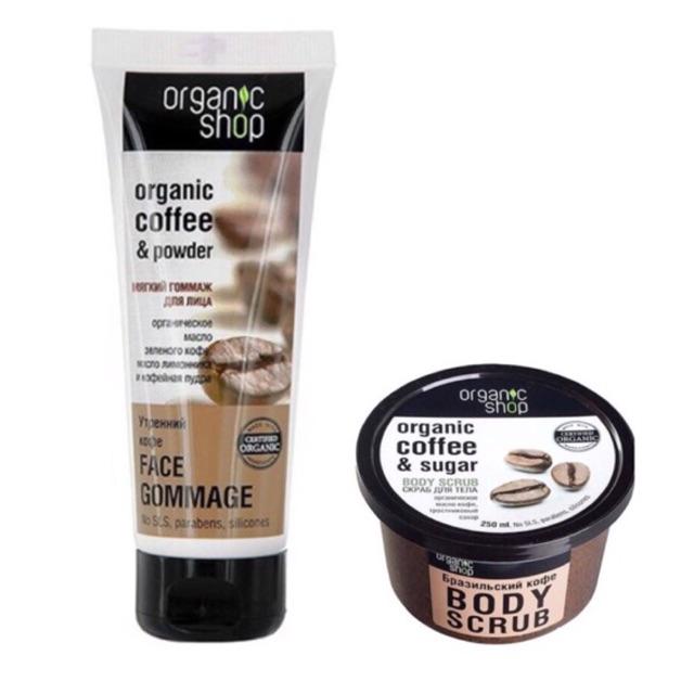 Combo Tẩy da chết cho MẶT & BODY Organic shop chiết xuất cà phê - 3473090 , 1282954828 , 322_1282954828 , 100000 , Combo-Tay-da-chet-cho-MAT-BODY-Organic-shop-chiet-xuat-ca-phe-322_1282954828 , shopee.vn , Combo Tẩy da chết cho MẶT & BODY Organic shop chiết xuất cà phê