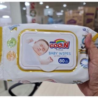 Khăn ướt GOO.N Premium Baby Wipes (80 tờ) thumbnail