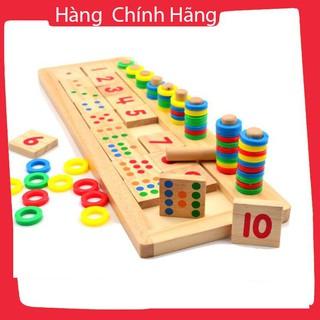 [Hỗ trợ giá] Com 1 bảng tính và 1 bảng số Montessori – Đồ chơi giáo dục gỗ an toàn cho bé_Hàng cao cấp