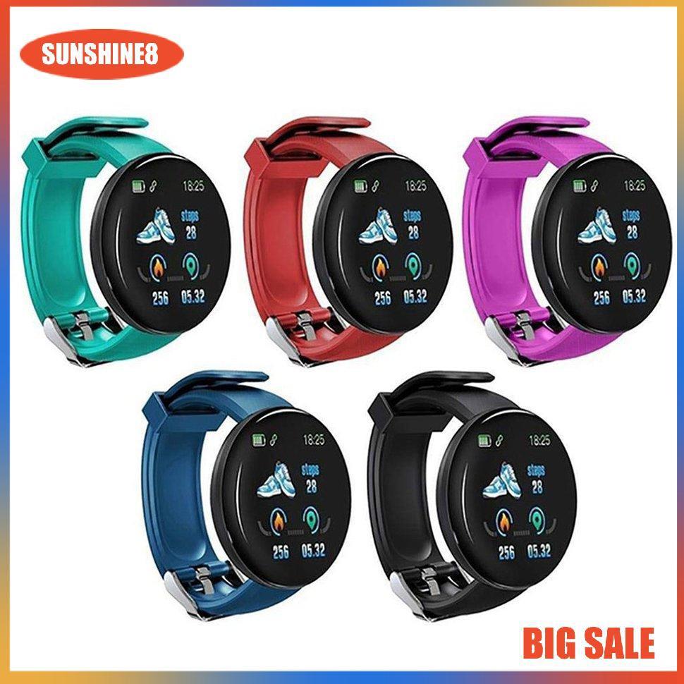 Đồng hồ thông minh d18 màn hình màu hỗ trợ đo nhịp tim tiện lợi cao cấp