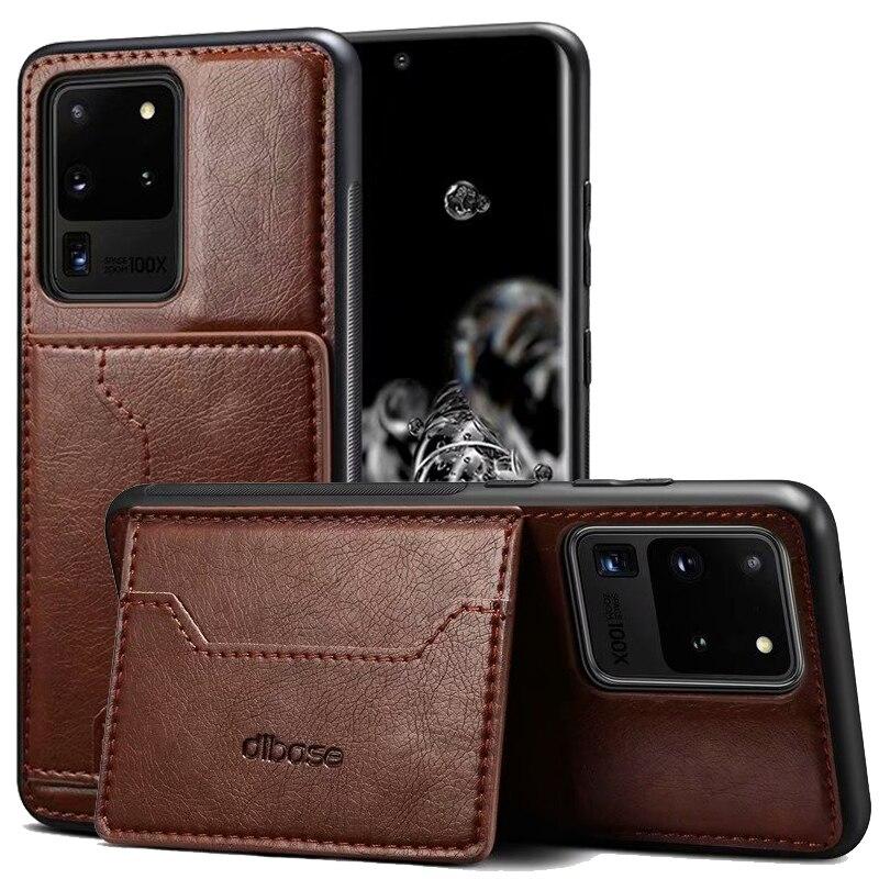 10. Bao Da Dạng Ví Nắp Lật Nam Châm Có Ngăn Đựng Thẻ Cho Samsung Galaxy S21 Ultra 5g