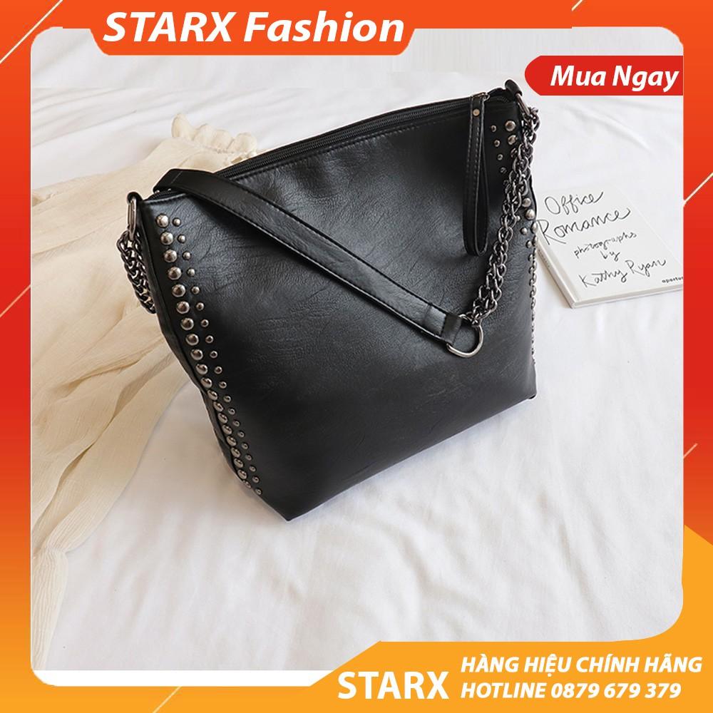 Túi tote da mềm viền đinh chất da mềm đẹp STARXFASHION.VN