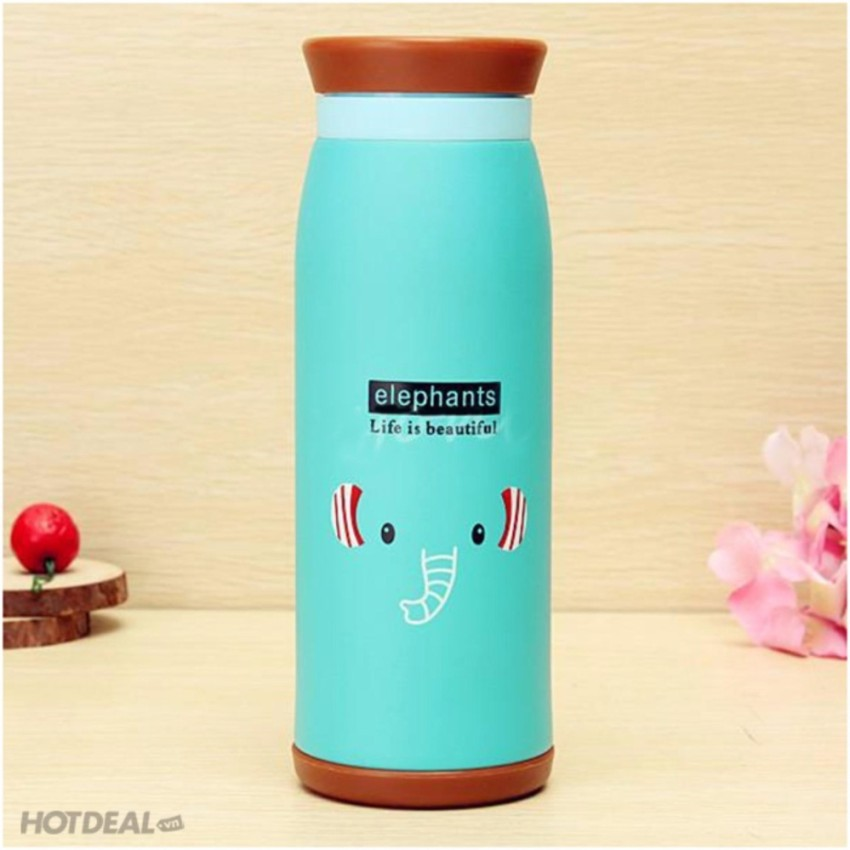 Bình giữ nhiệt hoạt hình cao cấp phong cách Hàn Quốc 500ml hình voi xanh đáng yêu - 10003568 , 842302090 , 322_842302090 , 110000 , Binh-giu-nhiet-hoat-hinh-cao-cap-phong-cach-Han-Quoc-500ml-hinh-voi-xanh-dang-yeu-322_842302090 , shopee.vn , Bình giữ nhiệt hoạt hình cao cấp phong cách Hàn Quốc 500ml hình voi xanh đáng yêu