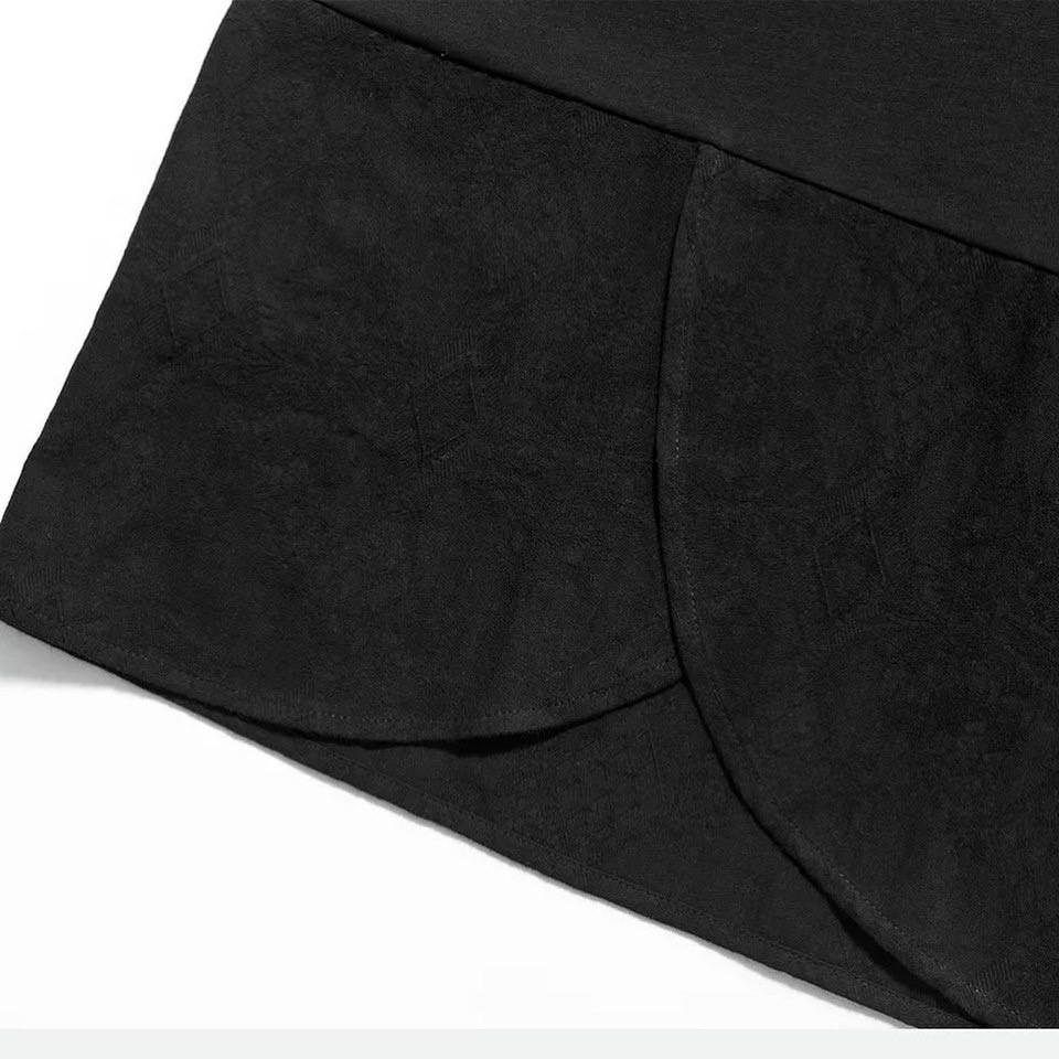 Áo thun nam dáng dài vạt xéo vải đũi