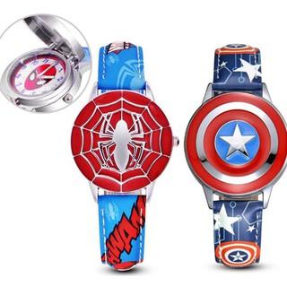 Đồng hồ đeo tay hình Spiderman hoạt họa chống thấm nước dành cho bé trai