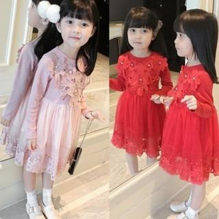 Váy Đầm Bé Gái Dài Tay Công Chúa VK2 xinh xắn - váy công chúa