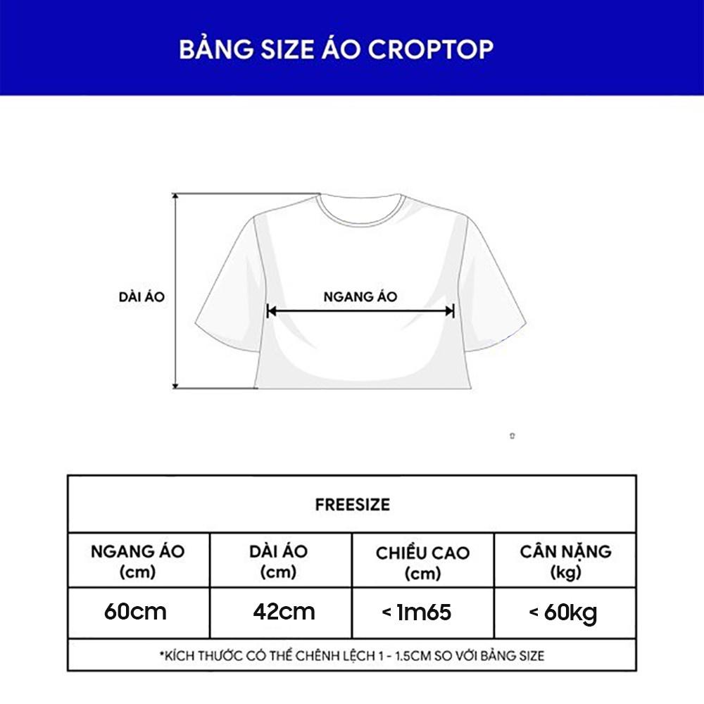 Áo Croptop Cổ Tròn In Hình LV Gangster cổ tròn 100% Cotton cao cấp vải dày mịn không xù lông