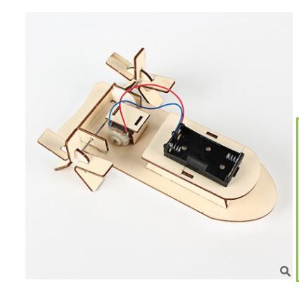 Đồ chơi thông minh, sáng tạo Đồ chơi khoa học STEAM  - chế tạo xuồng cho bé